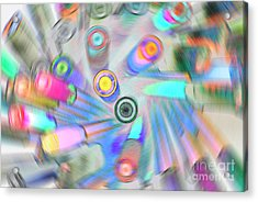 Acrylic Print featuring the digital art Colourful Pens by Wendy Wilton