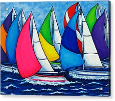 Colourful Regatta Acrylic Print