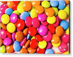 Colourful Round Candy Balls Closeup  Acrylic Print