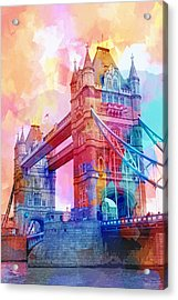 Colourful Tower Bridge Acrylic Print