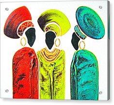 Colourful Trio - Original Artwork Acrylic Print
