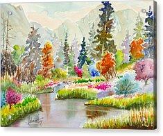 Colours Galore Acrylic Print