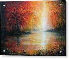 Colours Of Autumn Acrylic Print by Ann Marie Bone