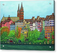 Colours Of Basel, Switzerland Acrylic Print