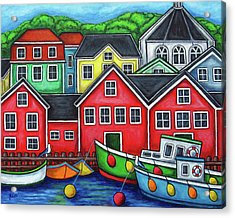 Colours Of Lunenburg Acrylic Print by Lisa  Lorenz