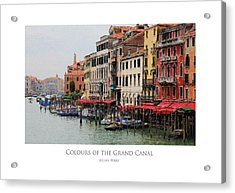 Colours Of The Grand Canal Acrylic Print