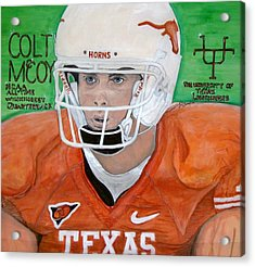 Colt Mccoy Ut Quarterback Acrylic Print by Jose Cabral