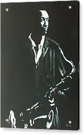 Coltrane Acrylic Print by Pete Maier