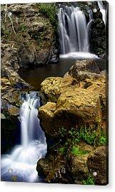 Columba River Gorge Falls 2 Acrylic Print by Marty Koch