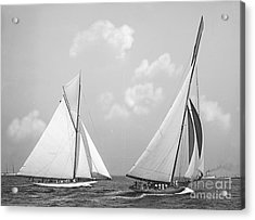 Columbia And Shamrock Race The Americas Cup 1899 Acrylic Print by Padre Art
