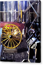 Acrylic Print featuring the photograph Columbia Barn by Larry Darnell