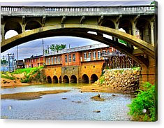 Columbia Canal At Gervais Street Bridge Acrylic Print