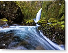 Acrylic Print featuring the photograph Columbia Cascade by Mike Lang