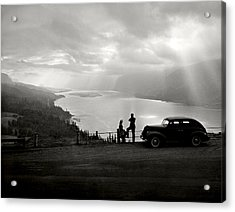 Columbia Gorge Acrylic Print by Ray Atkinsen