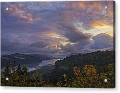 Columbia Gorge Sunrise Acrylic Print