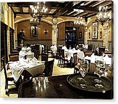 Columbia Restaurant Fine Dining Acrylic Print by Judy Wanamaker