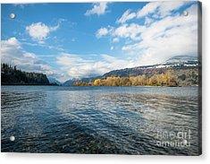 Columbia River Acrylic Print by Linda Steider