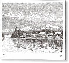 Columbia River Raft Up Acrylic Print by Jack Pumphrey
