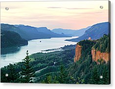 Columbia River With Vista House Acrylic Print