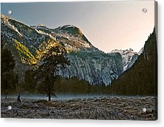 Acrylic Print featuring the painting Columbia Rock by Larry Darnell