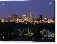 Columbia Skyline At Twilight Acrylic Print