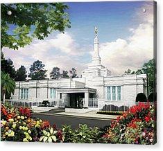 Columbia South Carolina Temple Acrylic Print by Brent Borup