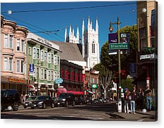 Columbus And Stockton In North Beach Acrylic Print