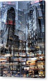 Columbus Circle Collage 1 Acrylic Print