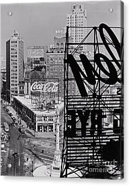 Columbus Circle Acrylic Print by Lionel F Stevenson