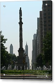 Columbus Circle New York City Acrylic Print by Elizabeth Fontaine-Barr
