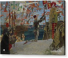 Columbus In The New World Acrylic Print