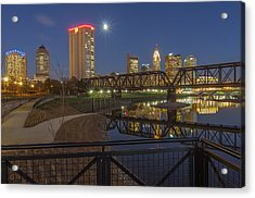 Columbus Ohio Nightscape Acrylic Print by Scott McGuire