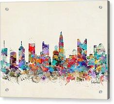 columbus Ohio skyline Acrylic Print by Bri B