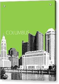 Columbus Ohio Skyline - Olive Acrylic Print by DB Artist