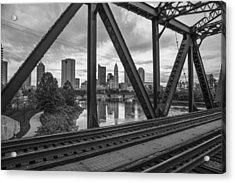 Columbus Train Tracks  Acrylic Print