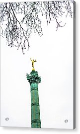 Column Of July. Bastille's Place. Paris. France. Acrylic Print