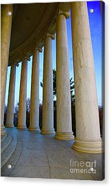Columns At Jefferson Acrylic Print by Megan Cohen