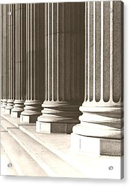 Columns Acrylic Print by Daniel Napoli