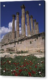 Columns In The Ancient Roman City Acrylic Print by Richard Nowitz
