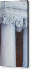 Columns Of Davidson Hall Acrylic Print by Mary Rogers