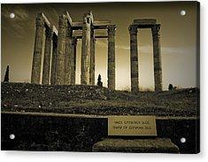 Columns Of The Olympian Zeus Acrylic Print by Maria Panagiotaki
