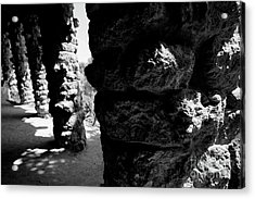 Columns Of The Park Guell Acrylic Print
