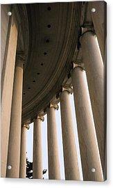 Columns Surround The Jefferson Statue Acrylic Print by Rex A. Stucky