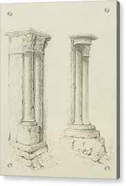 Columns Acrylic Print by Thomas Leeson the Elder Rowbotham