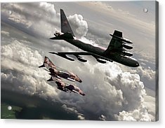 Combat Air Patrol Acrylic Print by Peter Chilelli