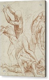 Combat Of Nude Men  Acrylic Print