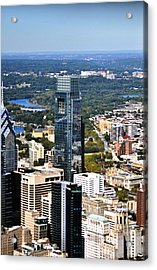 Comcast Center 1701 John F Kennedy Boulevard Philadelphia Pa 19103 2899 Acrylic Print by Duncan Pearson