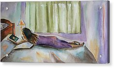 Acrylic Print featuring the painting Come Back Soon by Geeta Biswas