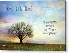 Acrylic Print featuring the photograph Come Fly With Me by Lori Deiter