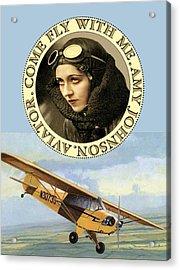 Come Fly Wth Me Vintage Aviator Acrylic Print